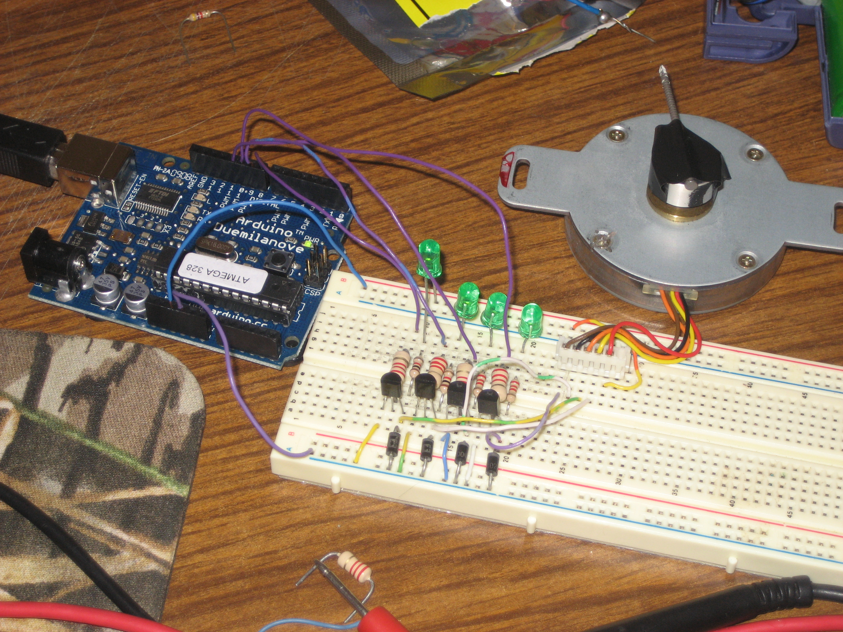 Controlling A Stepper Motor With An Arduino Azega
