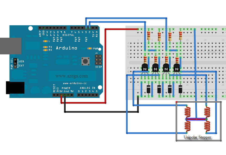 Controlling A Stepper Motor With An Arduino Part 2 Azega