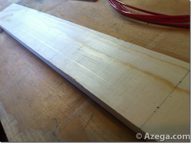 DIY HDTV Antenna mark holes