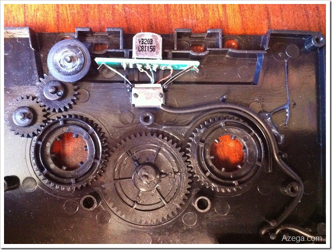 Cassette plastic gears