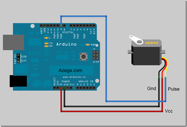 Arduino servo motor part 1 azega for Micro servo motor arduino