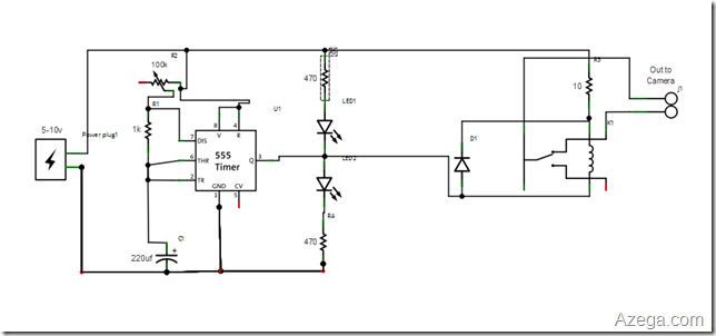 555 Intervalometer schematic
